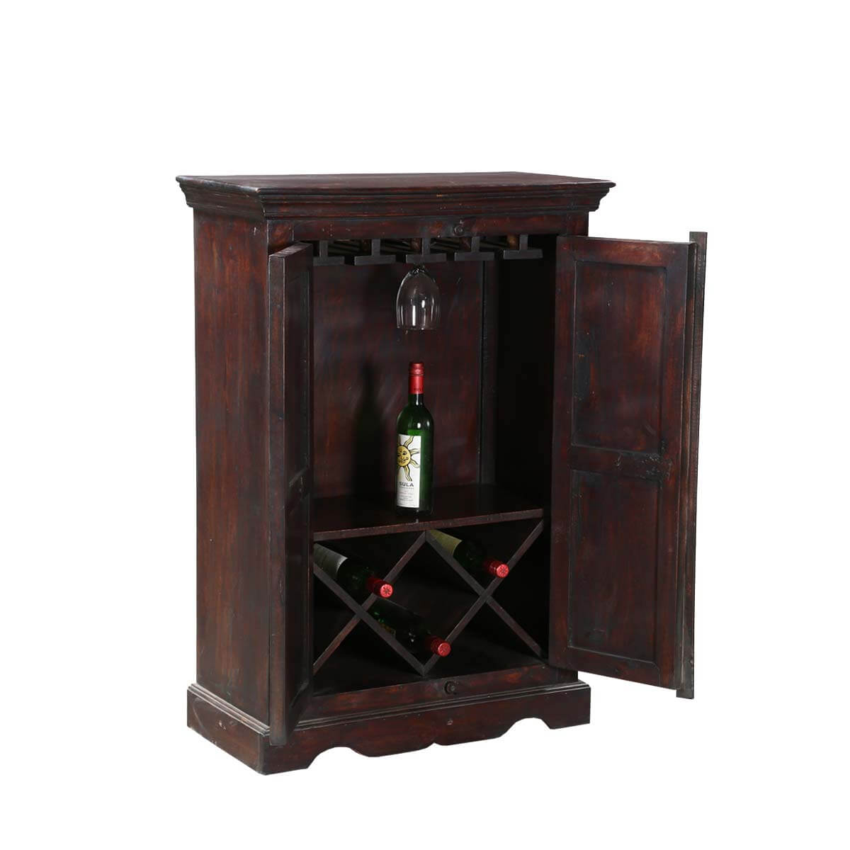 Wood Wine Storage Willamette 30 Quot Dark Wood 2 Door Wine Storage Bar Cabinet