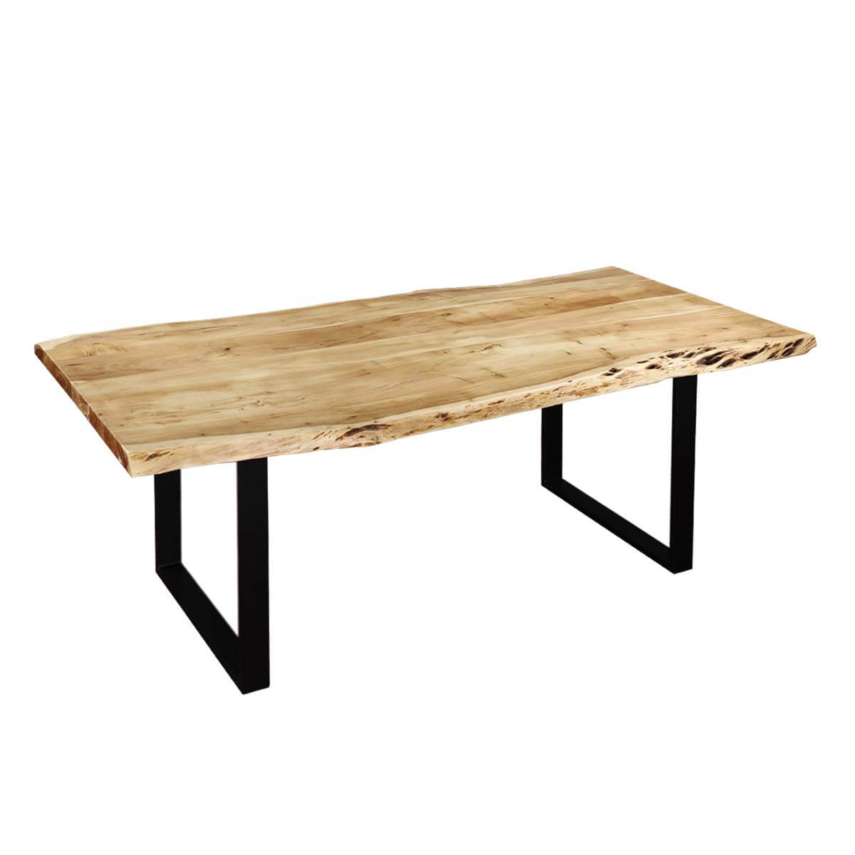 Acacia Dining Table Contemporary Acacia Wood And Iron Live Edge Dining Table