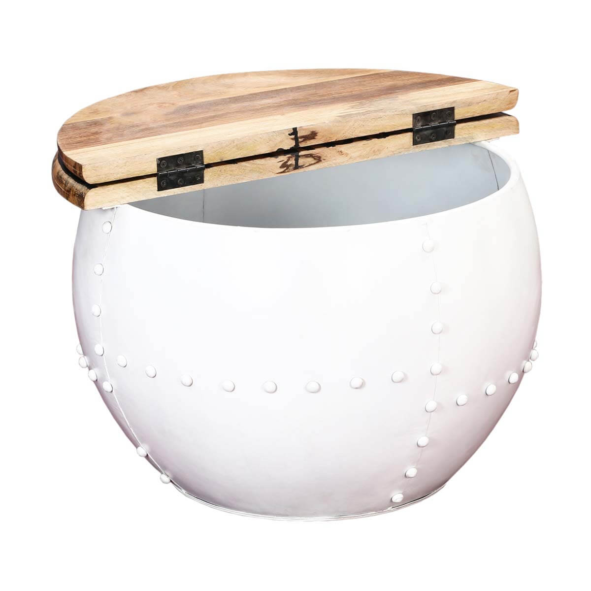 Round Contemporary Coffee Table Colorado Contemporary White Round Accent Drum Coffee Table