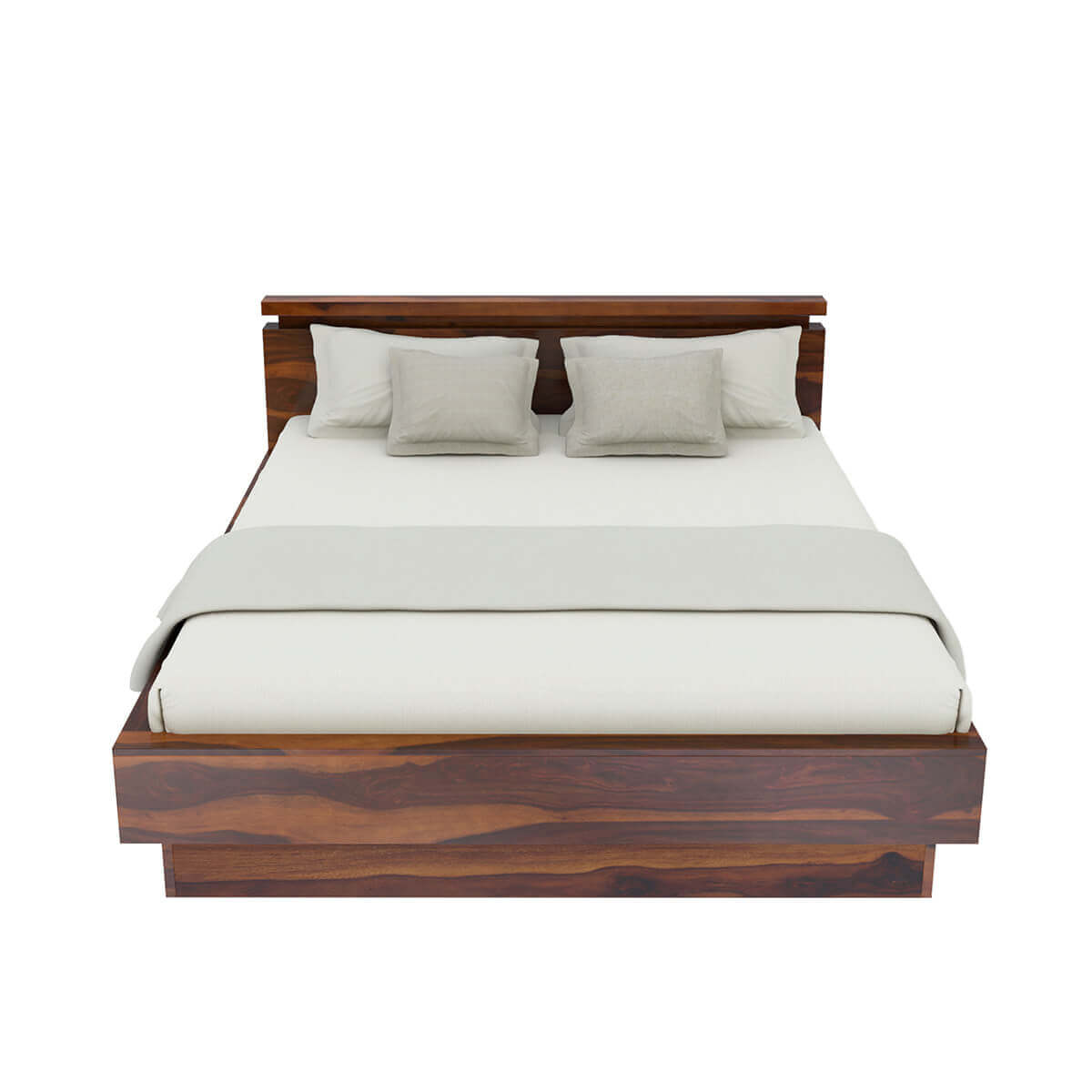 Solid Wood Bed Modern Simplicity Solid Wood King Size Platform Bed