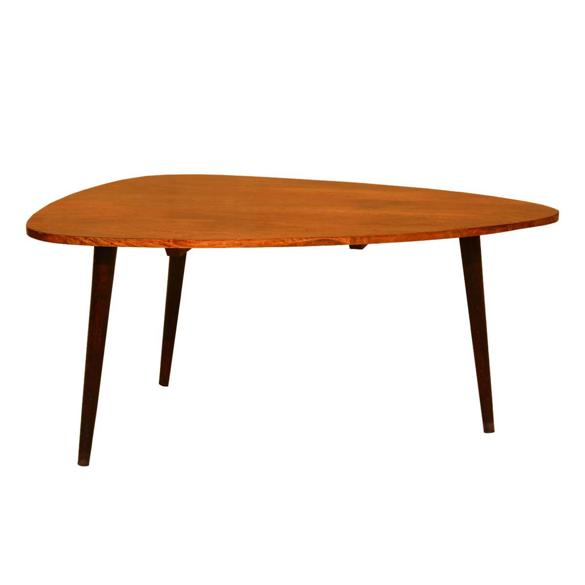 Triangular Table Plans Arrowhead Mango Wood Triangular Coffee Table