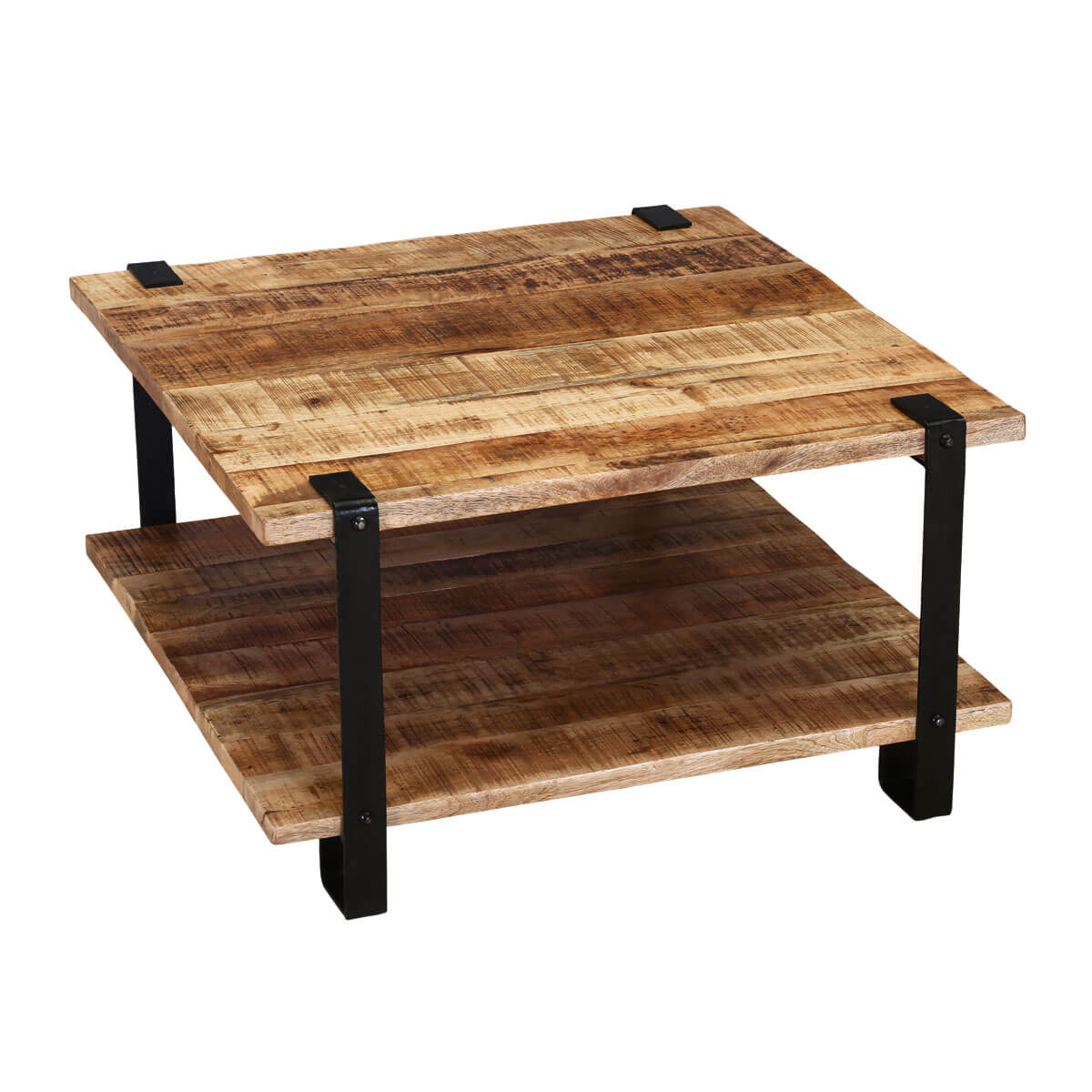 Industrial Coffee Table Roxborough Rustic Industrial Square Coffee Table With Saw