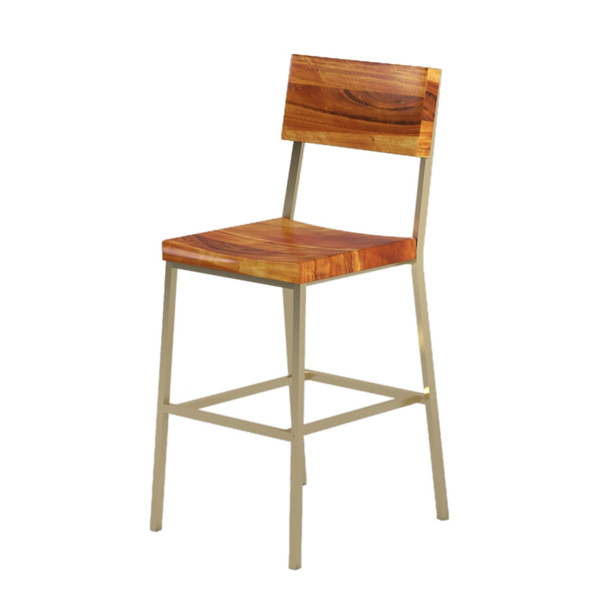Modern Industrial Chair Modern Industrial Solid Wood Tall Bar Chair Set Of 2