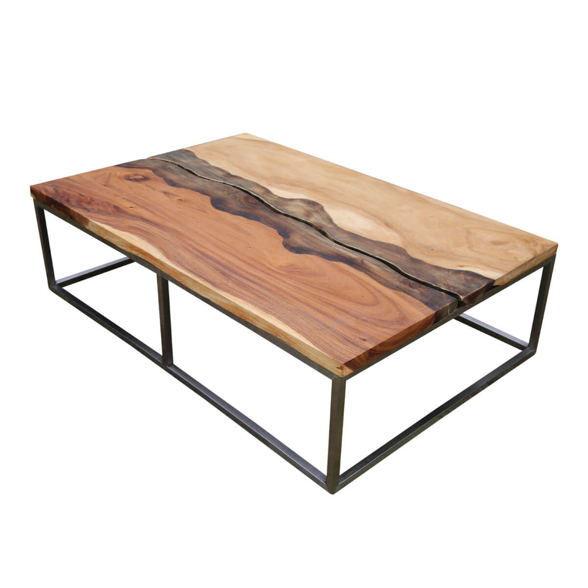 Live Edge Coffee Table Torrance Iron Base Natural Live Edge Coffee Table