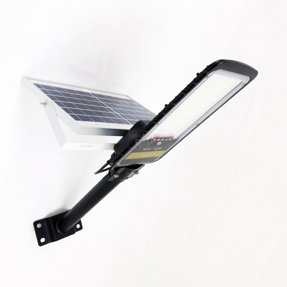 E Ten Jd 198 80w Smd Solar Led Street Light Black C W Solar Panel