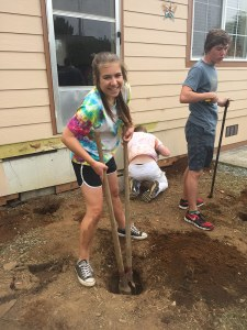 Digging post holes in Smith River!