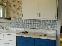 DIY Peel And Stick Backsplash - Easy Home Decorating Ideas