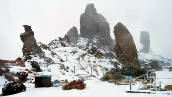 Рокес-дель-Гарсиа в снегу