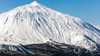 Склоны Тейде в снегу