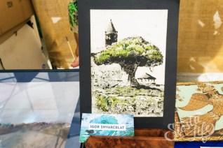 Работа участника ярмарки в Сантьяго-дель-Тейде художника Игоря Шварцблата