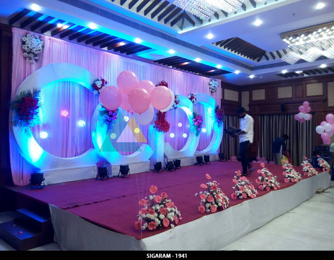 Decoration Hotel Birthday Party Decoration At Shenbaga Hotel And Convention