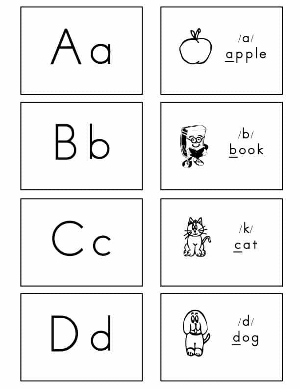Fundations Alphabet Flash Cards Printable - Photos Alphabet Collections