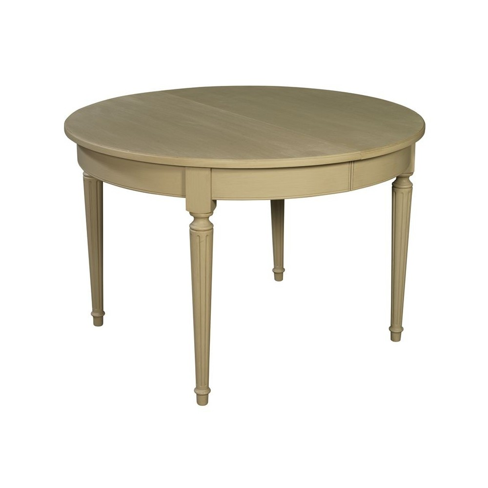 Table Ronde Allonges Table Ronde à Bandeau 4 Pieds Et 2 Ou 4 Allonges De 42 Cm Signature