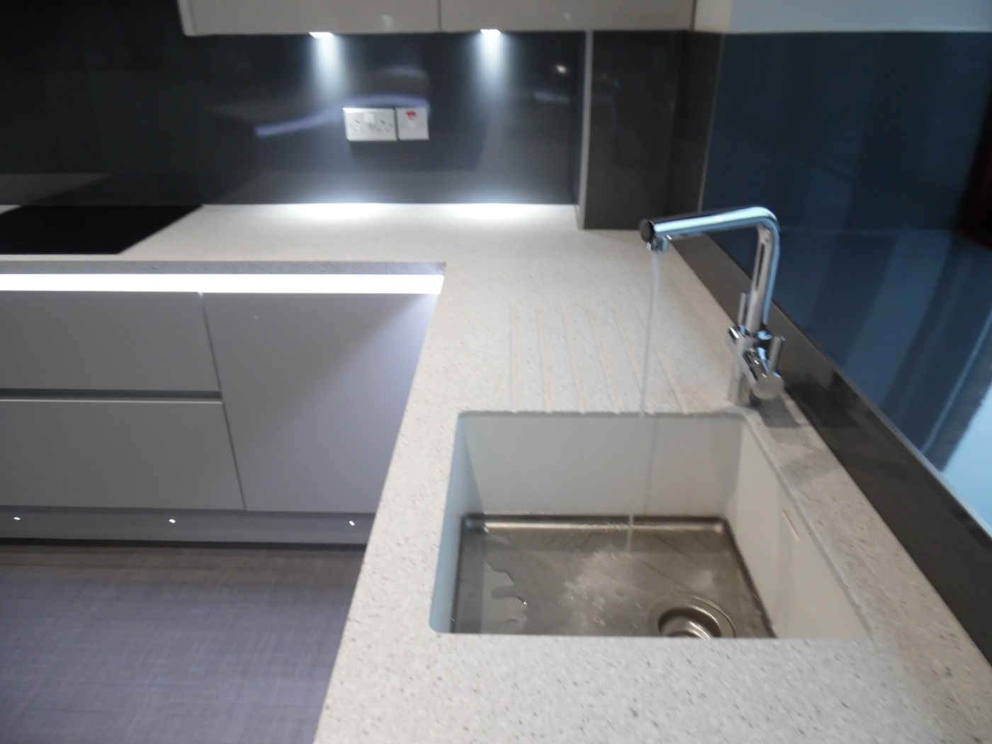 Corian Countertops With Integrated Sink Kitchen Design Newton Mearns
