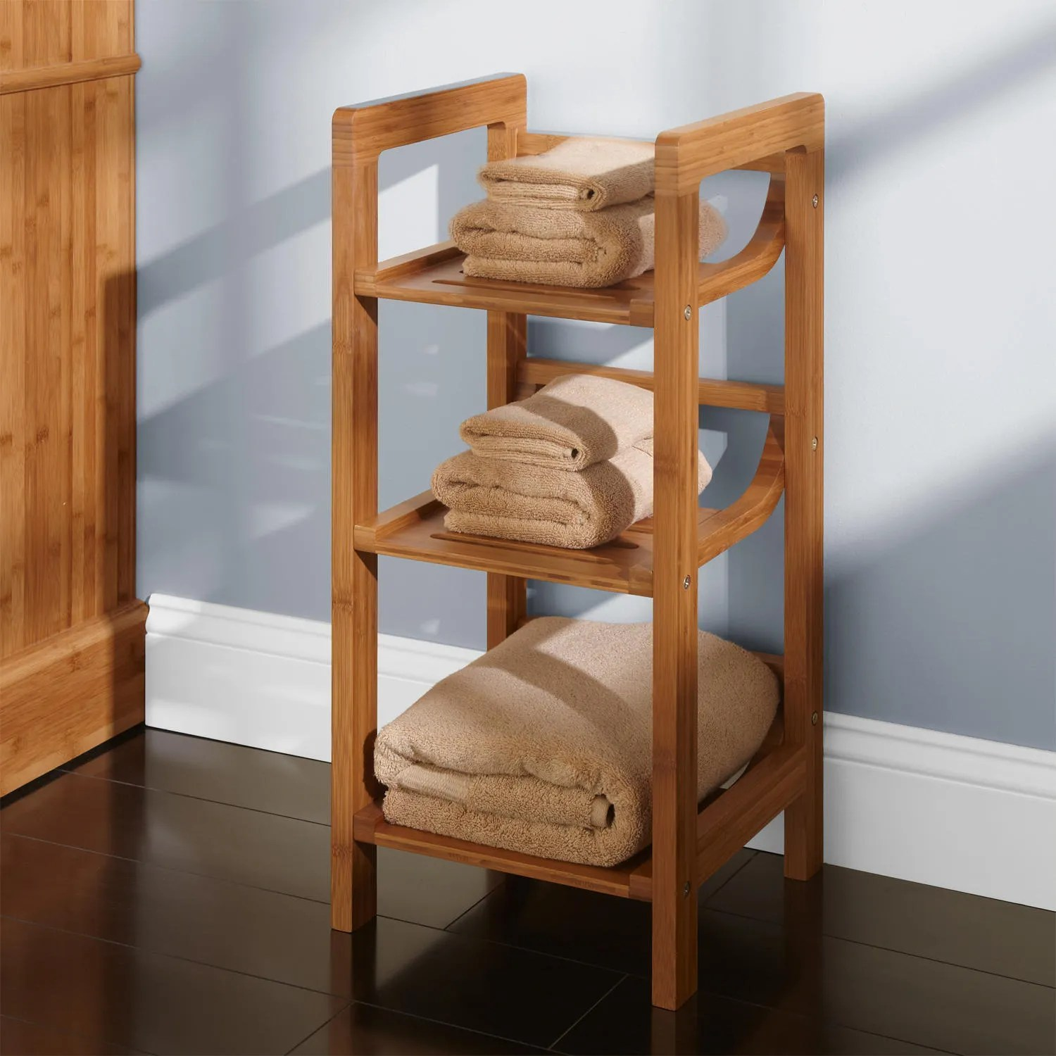 Handtuch Regal Bad Three Tier Bamboo Towel Shelf