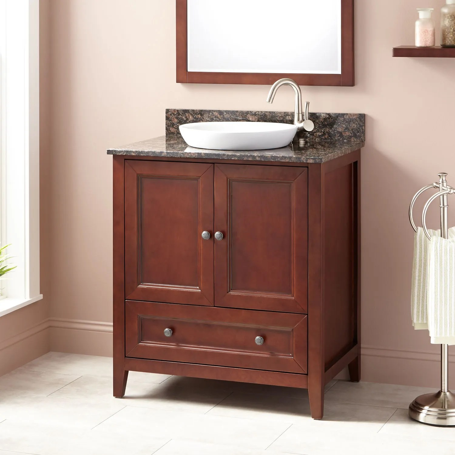 Vanity Red 36 Quot Kipley Vanity For Semi Recessed Sink Gray Wash