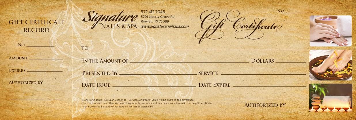 Gift card - Signature Nail Spa