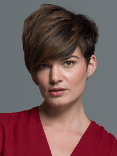 Pixie Haircut Neckline Angled Pixie With Long Bangs Haircut Women 39;s Hairstyles