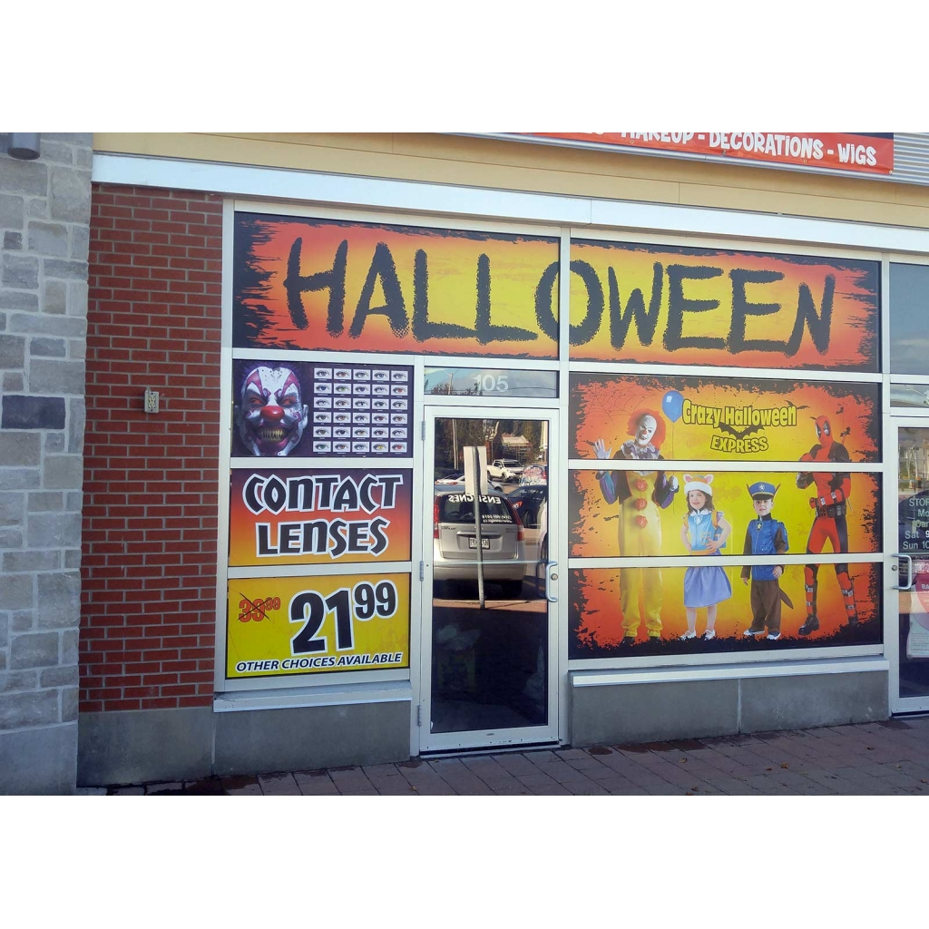 Magasin Ottawa Boutique Crazy Halloween Ottawa Window Graphics Sign