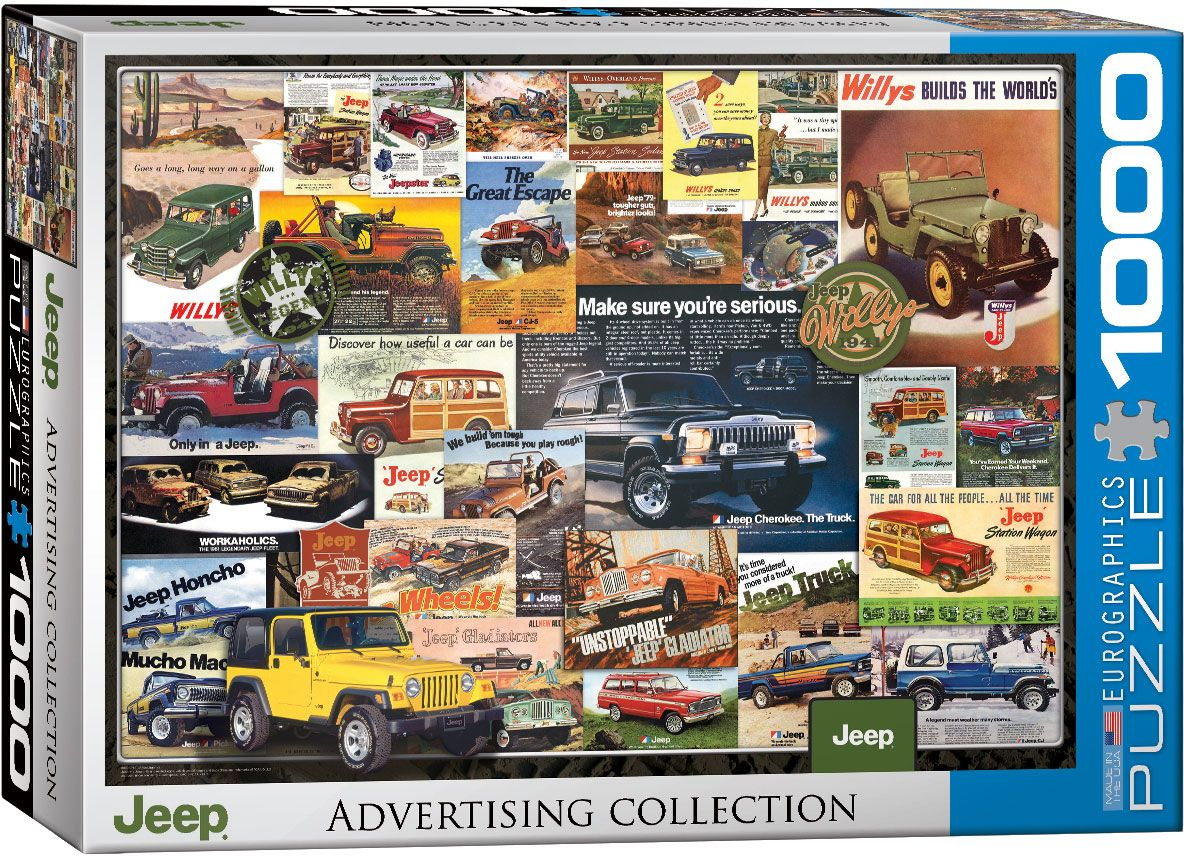 Piece Ad Jeep Vintage Ads 1000 Piece Jigsaw Puzzle 680mm X 490mm Pz