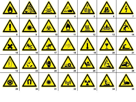 35 Free Warning Signs  Symbols Signs  Symbols