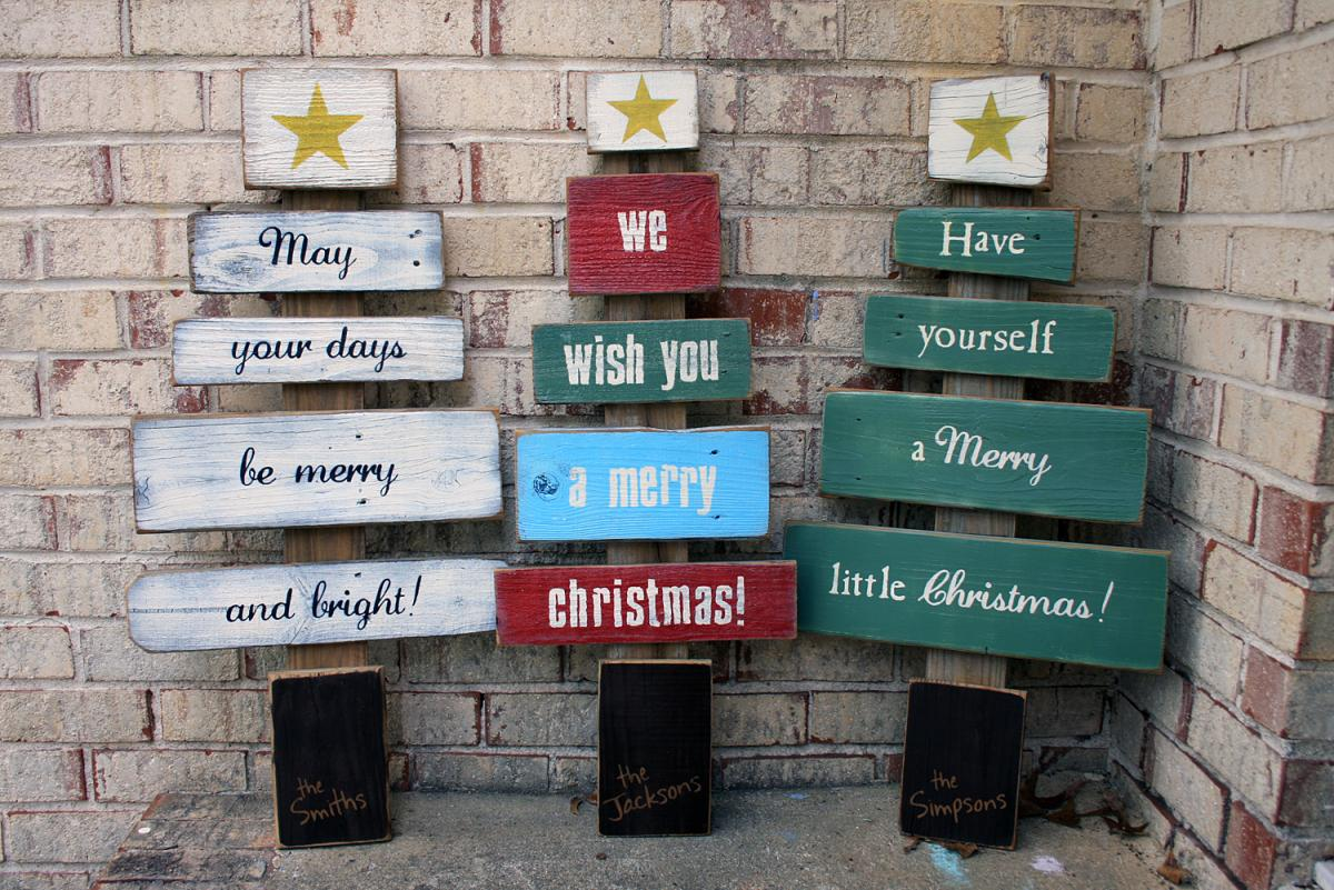 Woodworker Küchen Christmas Wishes Tree Signs By Andrea