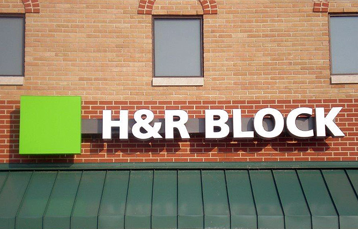 H  R Block Custom Business Signs Signs by Crannie