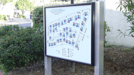 Illumintaed map directory cabinet