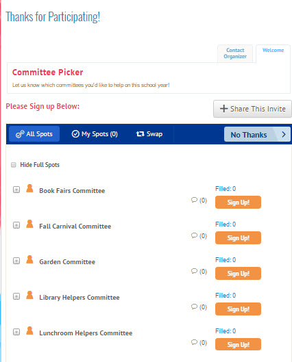 How to create a Committee Picker SignUp Sheet/ SignUp Interest Form