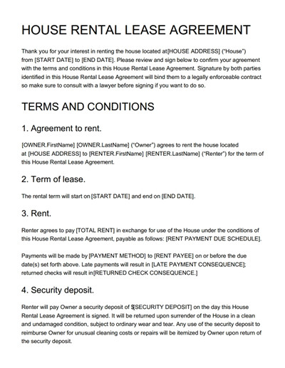 Tenancy Agreement Templates - Free Download, Edit, Print and Sign