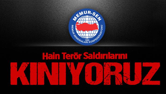 Siirt Memur-Sen'den Terör Saldırısını Kınama Mesajı