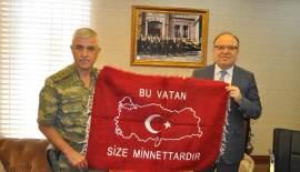 KORGENERAL ÇETİN, VALİ TUTULMAZ'I ZİYARET ETTİ