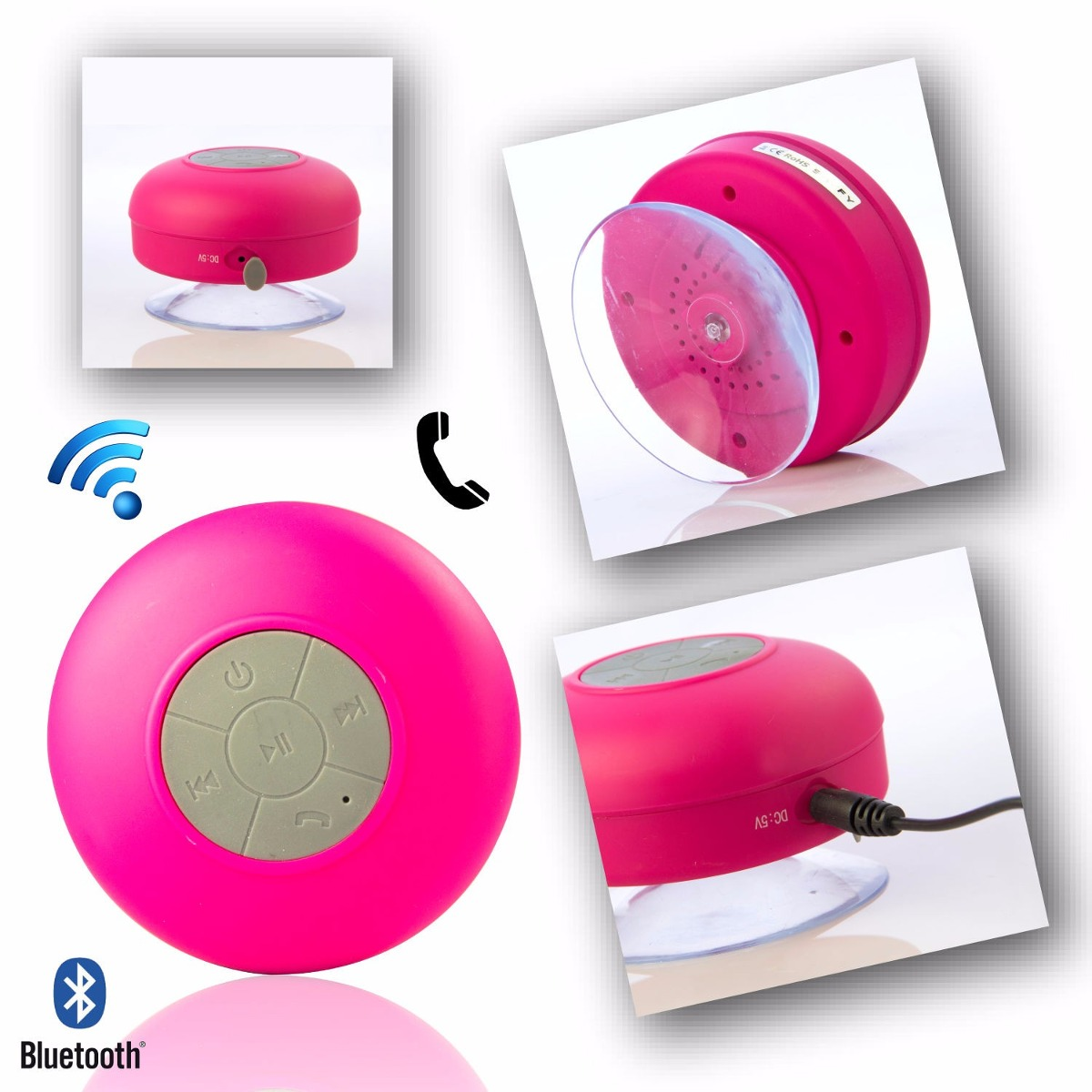 Manos Libres Bluetooth Amazon Mini Parlante Bluetooth Redondo Para Ducha En Varios