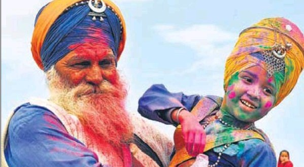 The passing of a colourful tradtion to the next generation of Nihangs on the concluding day of the Holla Mohalla celebrations in Anandpur Sahib.