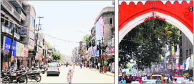 A view of the shops on the stretch between the Hall Gate and the Golden Temple in Amritsar which will be given heritage look.