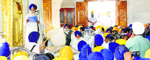 Akal Takht Jathedar Giani Gurbachan Singh delivers his address to the community on the Operation Bluestar anniversary at the Akal Takht in Amritsar