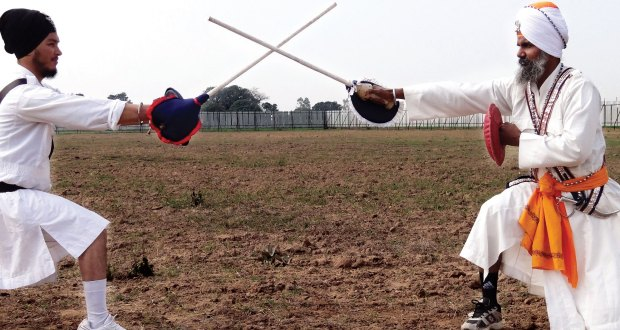 Gatka-instructor-Avtar-Singh-L-and-another-demonstrating-gatka-at-Punjab-University-Patiala-sports-ground-File-Photo