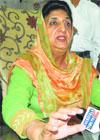 Rajinder Kaur Bhattal at Maur Mandi on Tuesday