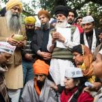Bhai Baldeep Singh doing Ardas at Jantar Mantar , New Delhi.