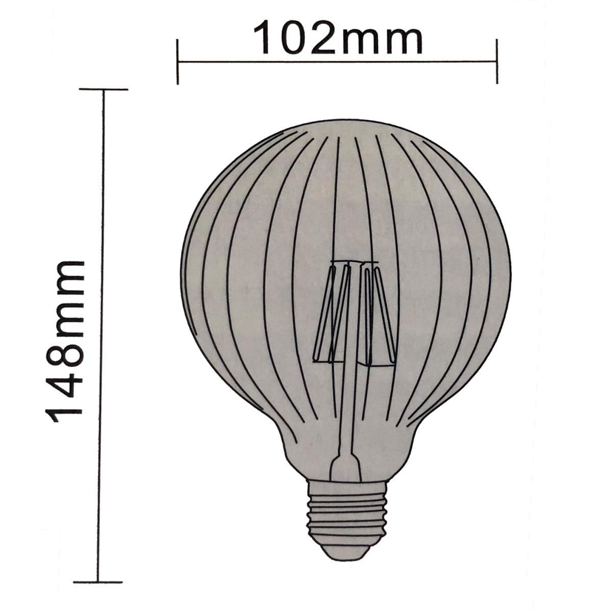 Ampoule Dimmable Ampoule Led E27 Dimmable Filament 6w Ambrée