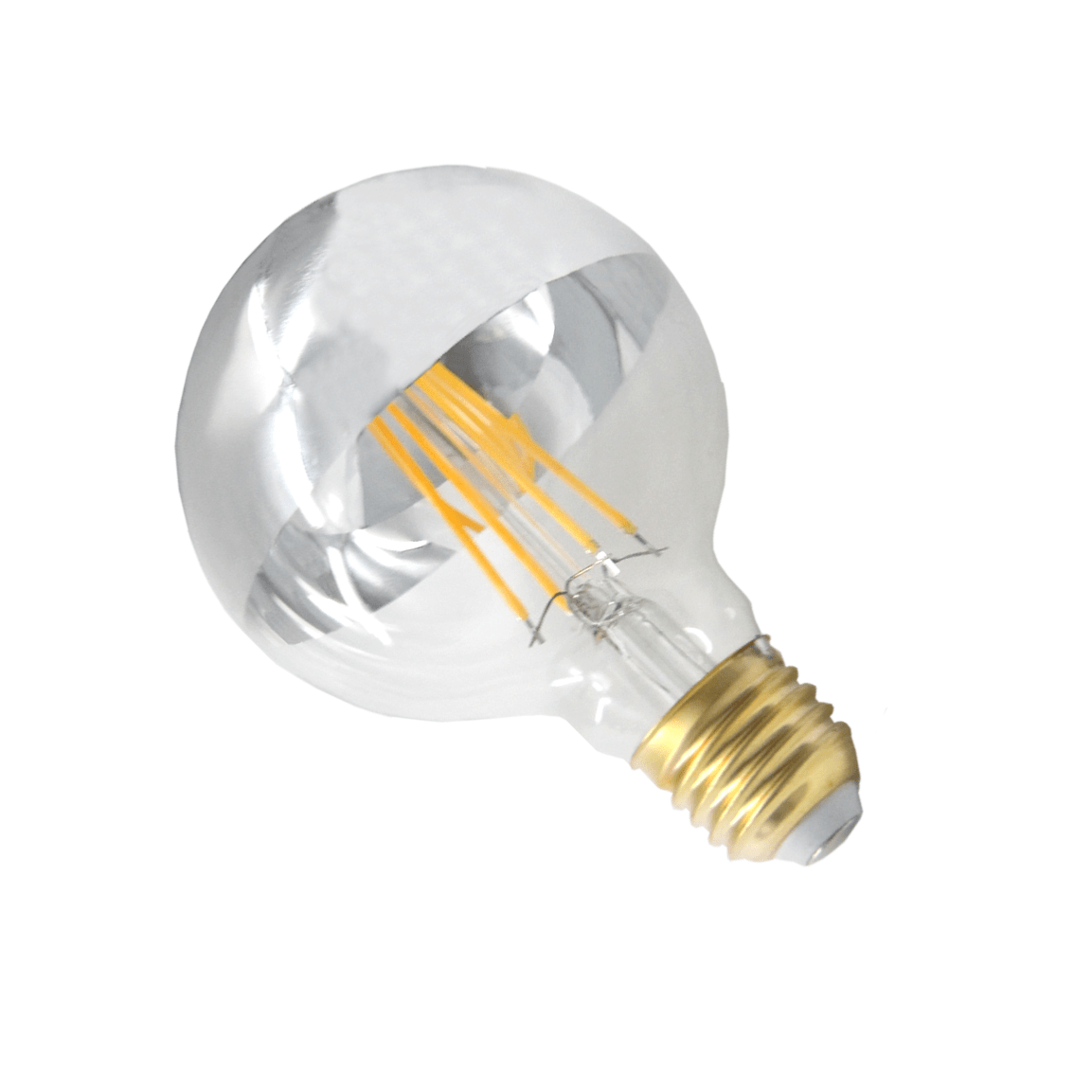 Ampoule E27 Dimmable Ampoule Led E27 Filament Dimmable 8w G95 Globe Reflect Argent