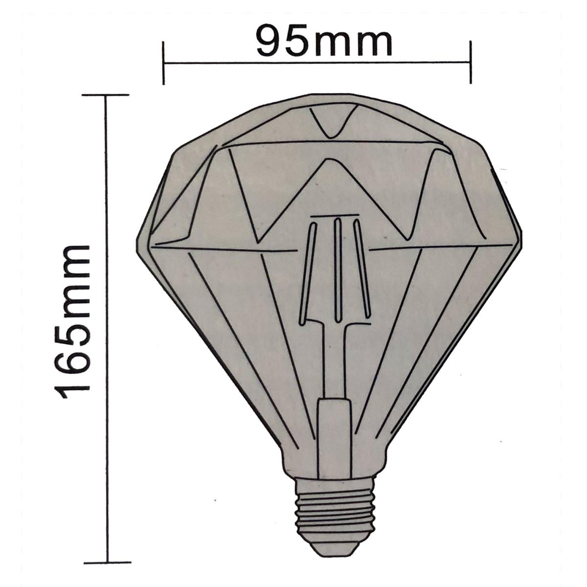 Ampoule Led Dimmable Ampoule Led E27 Dimmable 6w Ambrée Originale