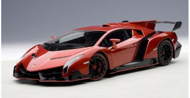 Lamborghini Sesto Elemento Wallpaper Hd Autoart 74508 Lamborghini Veneno Red 1 18
