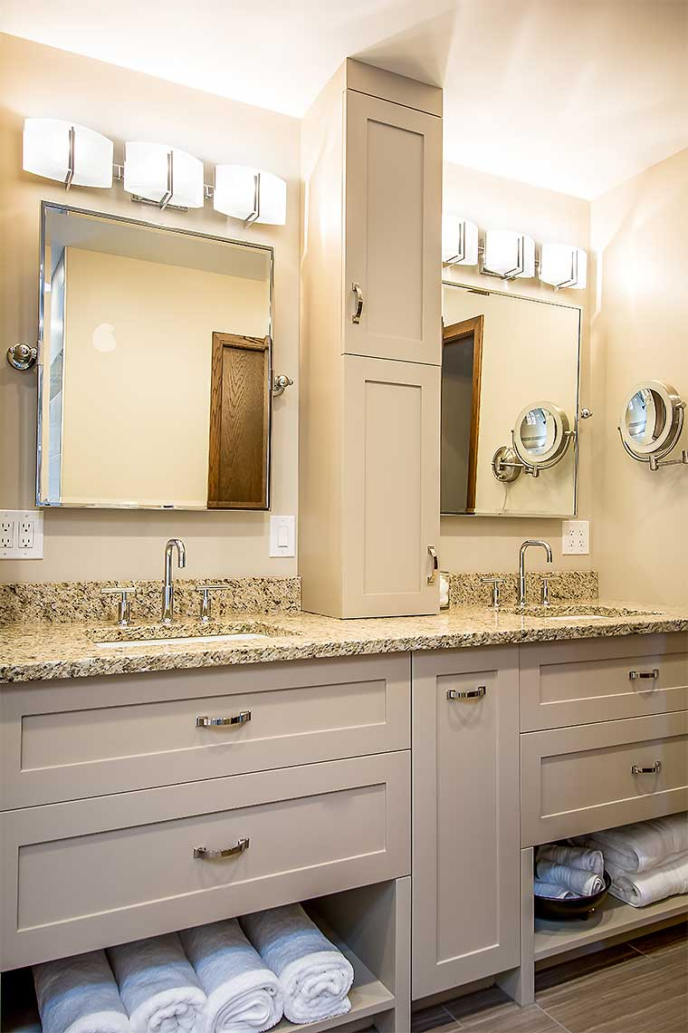Bathroom Remodeling Des Moines bathroom remodel des moines. custom vanity with inset doors white