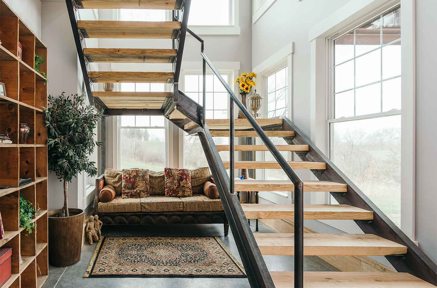 Staircases In Homes Staircases Entries By Silent Rivers Design Build Custom Homes