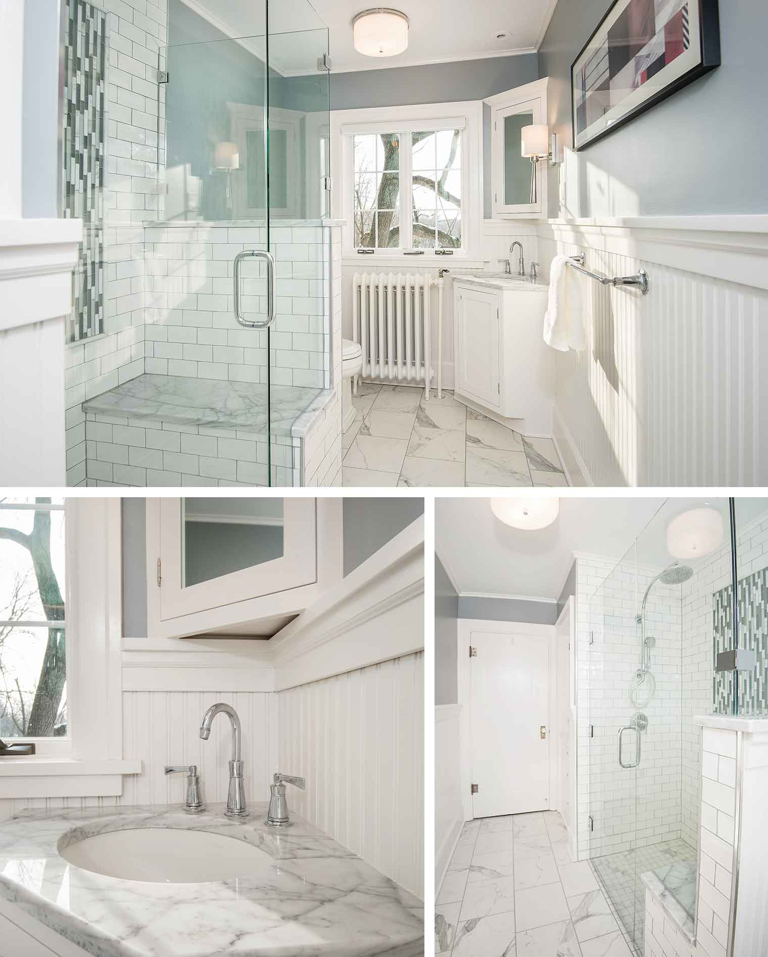 Modern Bathroom Design Used In Not Just One But Two Different Homes