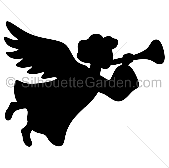 Cute Trumpet Wallpapers Christmas Angel Silhouette
