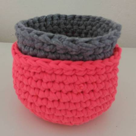 Crochet nesting baskets