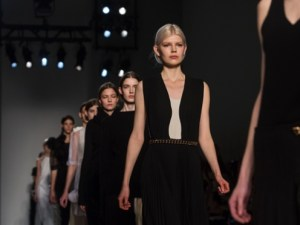 Victoria Beckham Autumn 2014 collection during New York Fashion Week. Photograph: Eric Thayer/Reuters