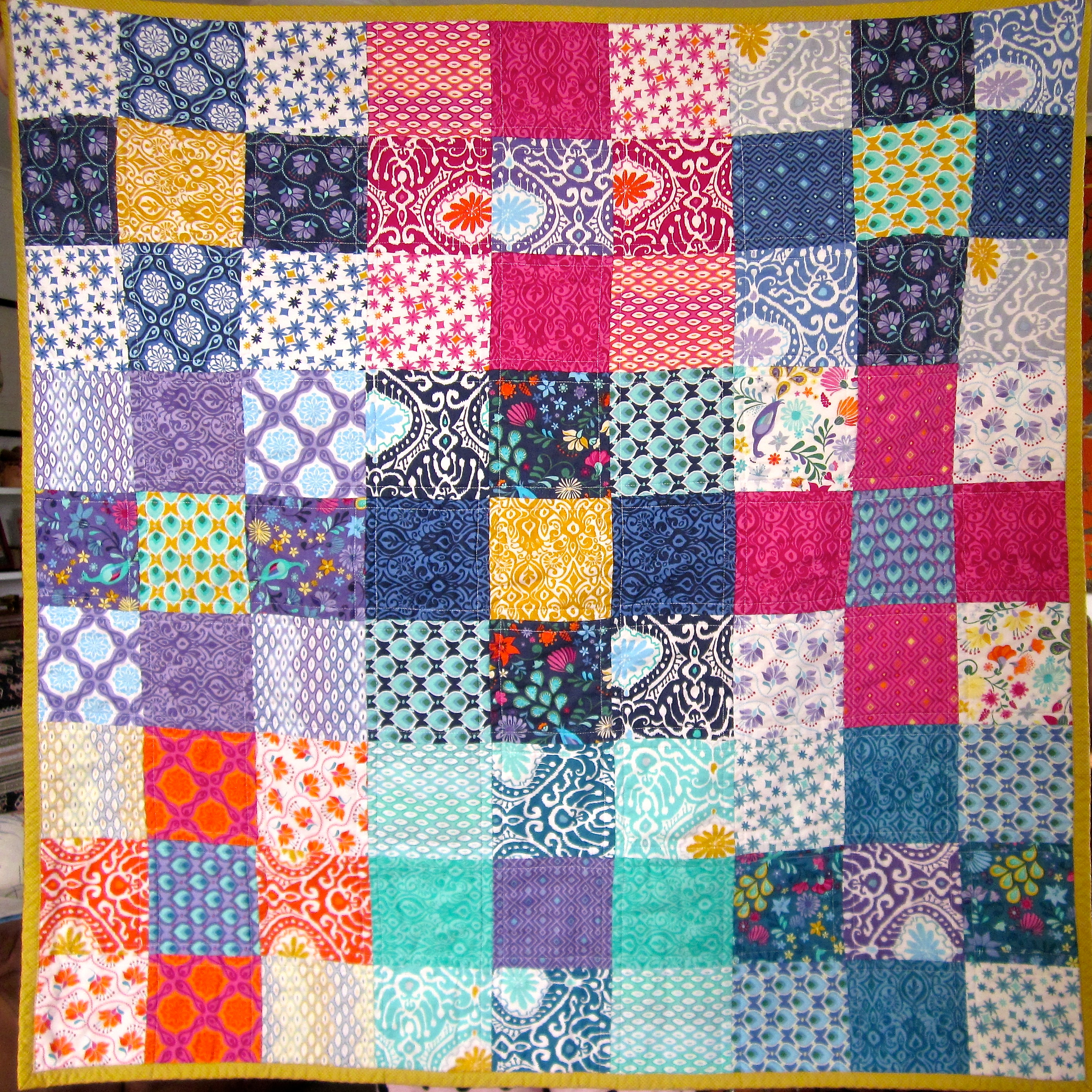 Photo Patchwork Easy 9 Squared Charm Pack Quilty | Silk Road Life